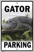 Gator Parking Sign