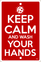Keep Calm Wash Hands Sign