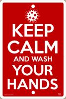 Keep Calm Wash Hands Sign