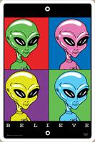 Believe in Aliens Warning Sign
