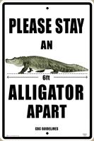 Six Feet Apart Alligator Warning Sign