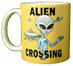 Alien Crossing Ceramic Mug