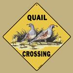 Quail Crossing Sign