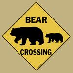 Bear Silhouette Crossing