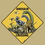 Dinosaur Crossing Sign