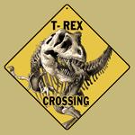 T-Rex Crossing Sign