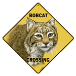 Bobcat Crossing Sign