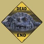 Alligator Dead End Sign