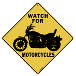 Watch for Motorcycles Sign
