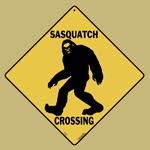 Sasquatch Shilouette Crossing