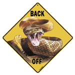 Back Off Rattler Sign