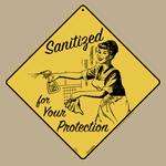 Vintage Sanitized Sign