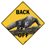 Komodo Dragon Back Off Sign